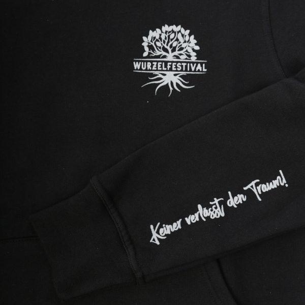 wurzel hoodie damen detail