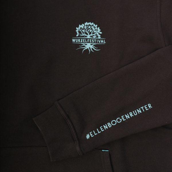 wurzel hoodie herren detail